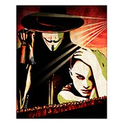 Хардпостер (на твёрдой основе) V for Vendetta